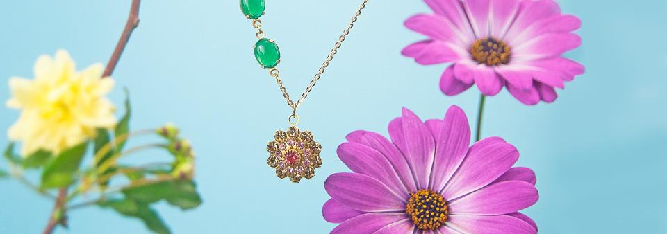 Collares Mon Carrousel Vintage Swarovski Flowers